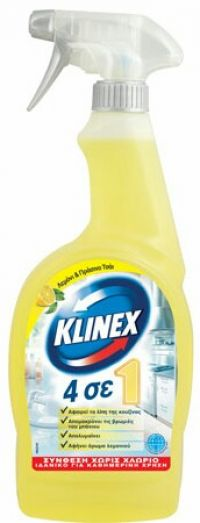 KLINEX SPRAY 4 in 1 LEMON 750ml