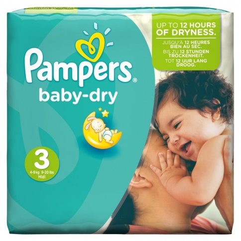 PAMPERS BABY DRY No3